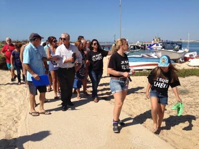 visita de deputado BE Algarve às ilhas barreira