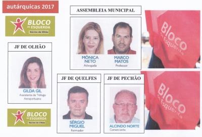 eleitos pelo BE - autárquicas 2017